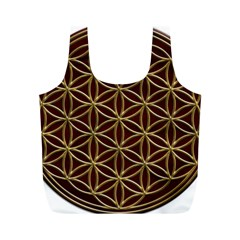 Flower Of Life Full Print Recycle Bags (m)