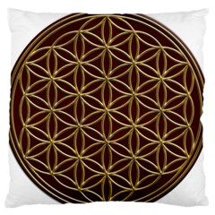 Flower Of Life Large Flano Cushion Case (two Sides)