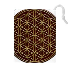 Flower Of Life Drawstring Pouches (extra Large) by Samandel
