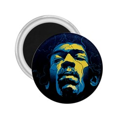 Gabz Jimi Hendrix Voodoo Child Poster Release From Dark Hall Mansion 2 25  Magnets