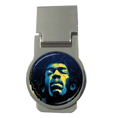 Gabz Jimi Hendrix Voodoo Child Poster Release From Dark Hall Mansion Money Clips (round)  by Samandel
