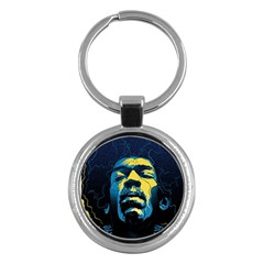 Gabz Jimi Hendrix Voodoo Child Poster Release From Dark Hall Mansion Key Chains (round)