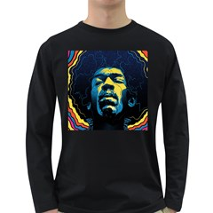 Gabz Jimi Hendrix Voodoo Child Poster Release From Dark Hall Mansion Long Sleeve Dark T Shirts by Samandel