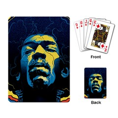 Gabz Jimi Hendrix Voodoo Child Poster Release From Dark Hall Mansion Playing Card by Samandel