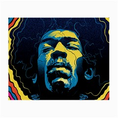 Gabz Jimi Hendrix Voodoo Child Poster Release From Dark Hall Mansion Small Glasses Cloth (2 Side) by Samandel