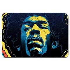 Gabz Jimi Hendrix Voodoo Child Poster Release From Dark Hall Mansion Large Doormat