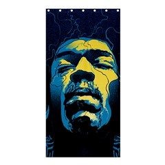 Gabz Jimi Hendrix Voodoo Child Poster Release From Dark Hall Mansion Shower Curtain 36  X 72  (stall)  by Samandel
