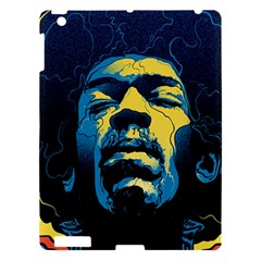 Gabz Jimi Hendrix Voodoo Child Poster Release From Dark Hall Mansion Apple Ipad 3/4 Hardshell Case by Samandel