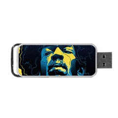 Gabz Jimi Hendrix Voodoo Child Poster Release From Dark Hall Mansion Portable Usb Flash (two Sides) by Samandel