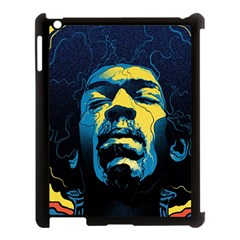 Gabz Jimi Hendrix Voodoo Child Poster Release From Dark Hall Mansion Apple Ipad 3/4 Case (black) by Samandel