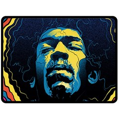 Gabz Jimi Hendrix Voodoo Child Poster Release From Dark Hall Mansion Double Sided Fleece Blanket (large)  by Samandel