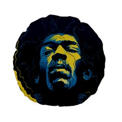 Gabz Jimi Hendrix Voodoo Child Poster Release From Dark Hall Mansion Standard 15  Premium Flano Round Cushions by Samandel
