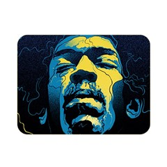 Gabz Jimi Hendrix Voodoo Child Poster Release From Dark Hall Mansion Double Sided Flano Blanket (mini)  by Samandel
