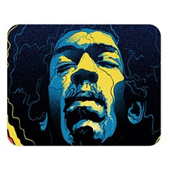 Gabz Jimi Hendrix Voodoo Child Poster Release From Dark Hall Mansion Double Sided Flano Blanket (large)  by Samandel