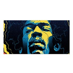 Gabz Jimi Hendrix Voodoo Child Poster Release From Dark Hall Mansion Satin Shawl by Samandel