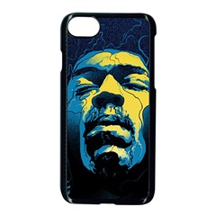 Gabz Jimi Hendrix Voodoo Child Poster Release From Dark Hall Mansion Apple Iphone 8 Seamless Case (black)