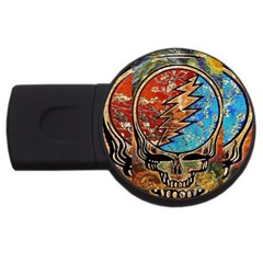 Grateful Dead Rock Band Usb Flash Drive Round (2 Gb) by Samandel