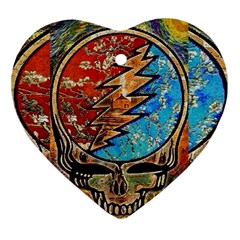 Grateful Dead Rock Band Heart Ornament (two Sides)