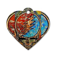 Grateful Dead Rock Band Dog Tag Heart (one Side)