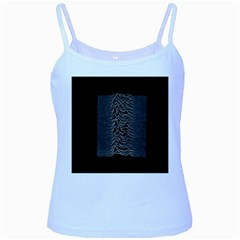 Grayscale Joy Division Graph Unknown Pleasures Baby Blue Spaghetti Tank