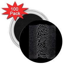 Grayscale Joy Division Graph Unknown Pleasures 2 25  Magnets (100 Pack)