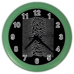 Grayscale Joy Division Graph Unknown Pleasures Color Wall Clocks