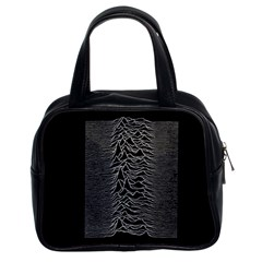 Grayscale Joy Division Graph Unknown Pleasures Classic Handbags (2 Sides)