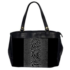 Grayscale Joy Division Graph Unknown Pleasures Office Handbags (2 Sides)