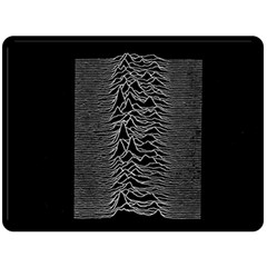 Grayscale Joy Division Graph Unknown Pleasures Fleece Blanket (large)
