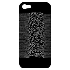Grayscale Joy Division Graph Unknown Pleasures Apple Iphone 5 Hardshell Case