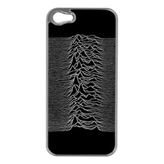 Grayscale Joy Division Graph Unknown Pleasures Apple Iphone 5 Case (silver)