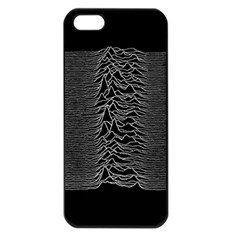 Grayscale Joy Division Graph Unknown Pleasures Apple Iphone 5 Seamless Case (black)