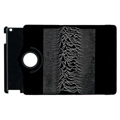 Grayscale Joy Division Graph Unknown Pleasures Apple Ipad 3/4 Flip 360 Case