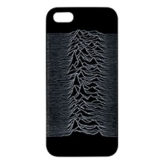Grayscale Joy Division Graph Unknown Pleasures Iphone 5s/ Se Premium Hardshell Case