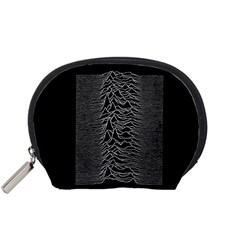 Grayscale Joy Division Graph Unknown Pleasures Accessory Pouches (small)