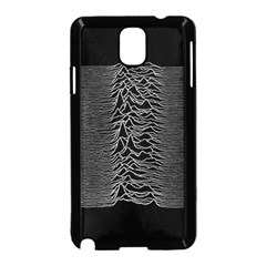 Grayscale Joy Division Graph Unknown Pleasures Samsung Galaxy Note 3 Neo Hardshell Case (black)