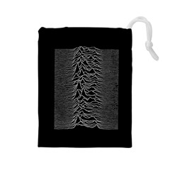 Grayscale Joy Division Graph Unknown Pleasures Drawstring Pouches (large)