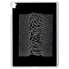 Grayscale Joy Division Graph Unknown Pleasures Apple Ipad Pro 9 7   White Seamless Case