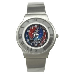Grateful Dead Logo Stainless Steel Watch
