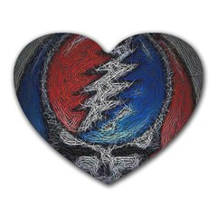 Grateful Dead Logo Heart Mousepads