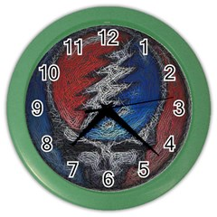 Grateful Dead Logo Color Wall Clocks