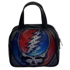 Grateful Dead Logo Classic Handbags (2 Sides)