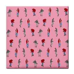 Hotline Bling Pattern Tile Coasters