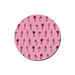 Hotline Bling Pattern Rubber Coaster (round)