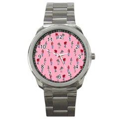 Hotline Bling Pattern Sport Metal Watch