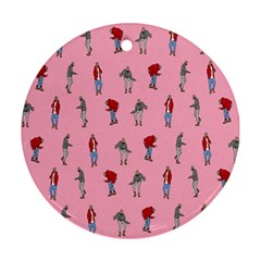 Hotline Bling Pattern Round Ornament (two Sides) by Samandel