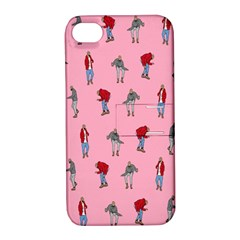 Hotline Bling Pattern Apple Iphone 4/4s Hardshell Case With Stand by Samandel