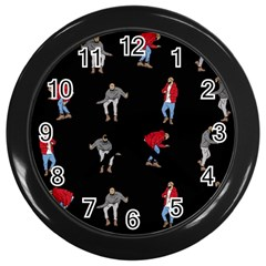 Hotline Bling Black Background Wall Clocks (black)