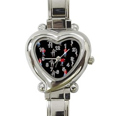 Hotline Bling Black Background Heart Italian Charm Watch
