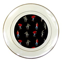 Hotline Bling Black Background Porcelain Plates